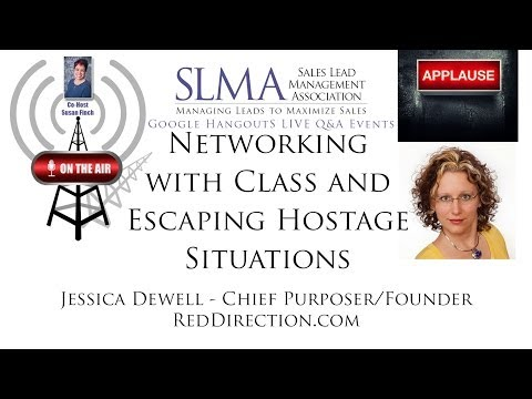 Jessica Dewell of RedDirection.com talks about escaping networking hostage situations