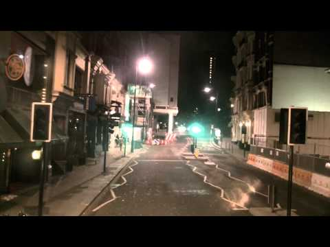 [Time-lapse] Night-time London bus journey