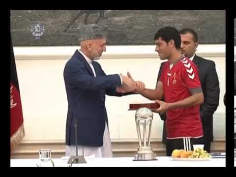 President Karzai received today our Heroes, Afghan National Football Team, 14 Sep  2013 02
