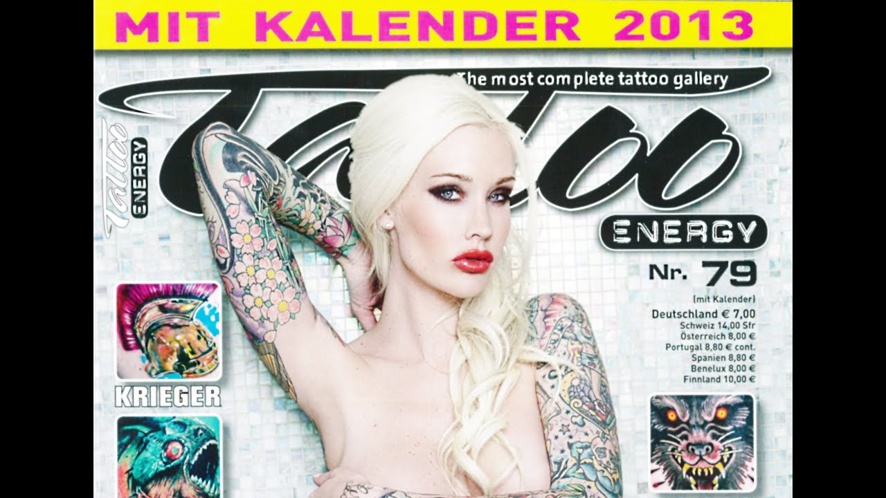 tattoo energy 79 2012 tattoo kalender 2013 calendar sabina kelley youtube. Black Bedroom Furniture Sets. Home Design Ideas