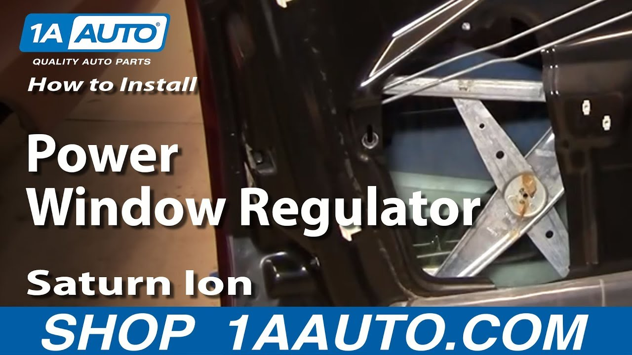 How To Install Replace Broken Power Window Regulator ...
