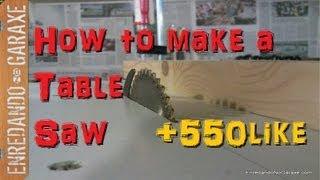 Cooking | como hacer una sierra de mesa con la sierra | como hacer una sierra de mesa con la sierra