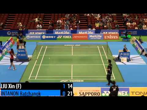 R32 - WS - Liu Xin vs Ratchanok Intanon - 2014 Badminton Japan Open