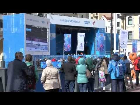 Олимпиада 2014 - Лыжная Гонка 50 км - Прямая трансляция на Экран у Ратуши-Роза Хутор