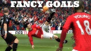 FIFA 14 HOW TO SCORE FANCY GOALS (Bicycle Kicks, Scissor