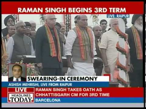 Raman Singh begins third term as Chhattisgarh CM