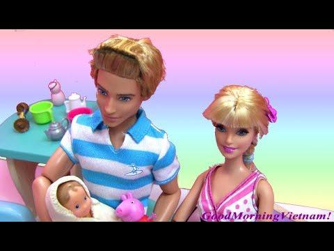 Cuộc Sống Búp Bê Barbie & Ken (Tâp5) Barbie Mang Thai Và Sinh Con Tại Nhà / Barbie Give Birth