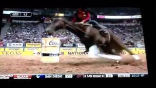 2014 NFR barrel racing round 1