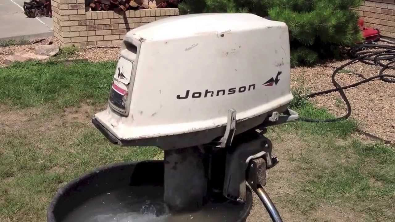 1967 johnson 20hp youtube for 6hp outboard motor electric start