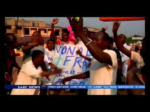 Seleka supporters protests against French troops