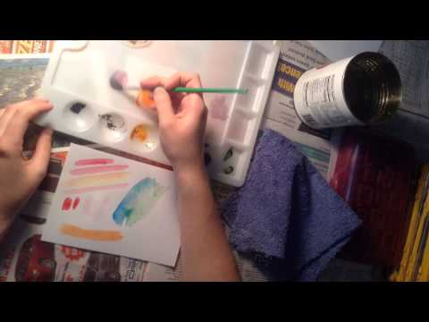 Demo - Impressionism with Watercolor and Oil Pastels