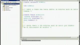 CREAR UNA BASE DE DATOS EN SQL SERVER 2005