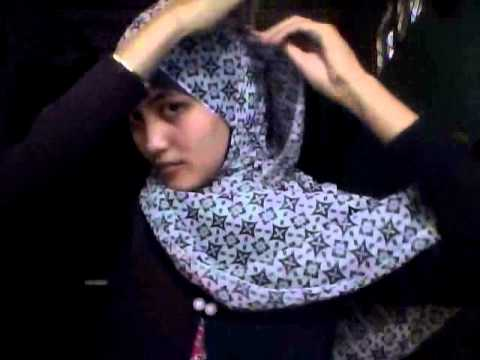 tutorial hijab simple segiempat motif bunga by nurla