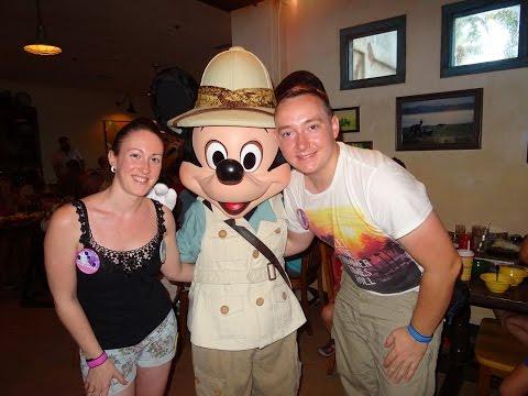 Breakfast at Tusker House Restaurant. Meeting Mickey Mouse - Disney's Animal Kingdom