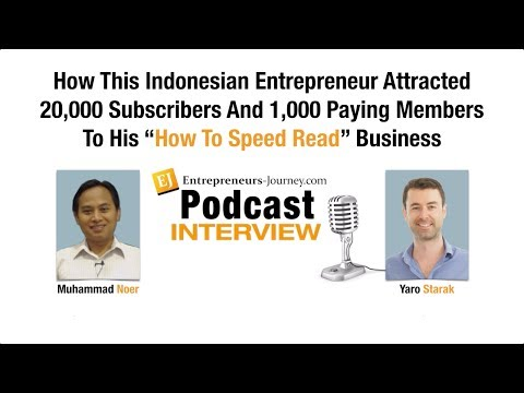 Muhammad Noer: How This Indonesian Blogger Attracted 1,000 Paying Members To His Online Course Video