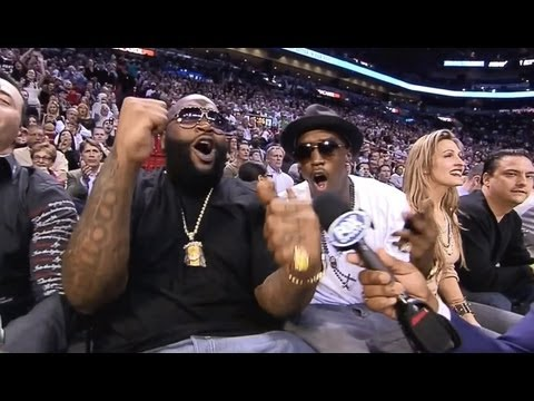 JUNE 09, 2013 - ESPN - There Is a huge Music Celebrity Scene at Miami Heat's Courtside