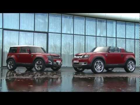 Land Rover Defender DC100 Concept in Firenze Red - B-Roll footage
