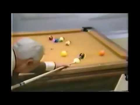 Pool Lessons - Aiming and Breaks Shot Lessons from Willie Mosconi