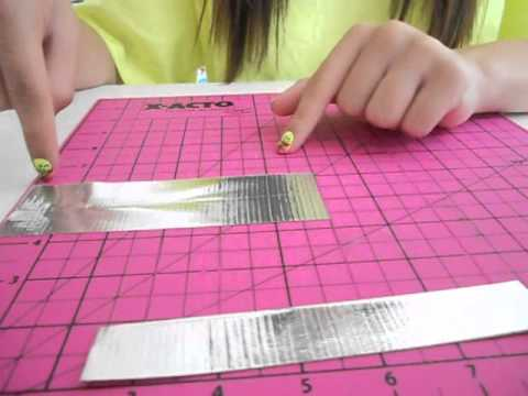 How to make a mini duct tape boat