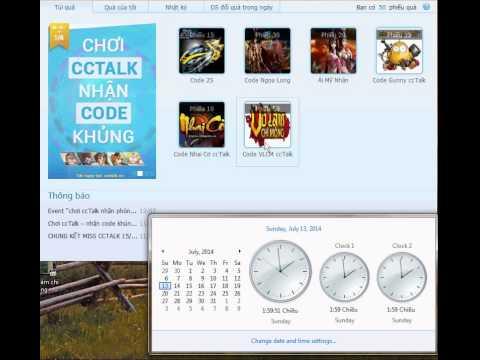Võ Lâm Chi Mộng - Cách Lấy Mã Code cctalk VLCM