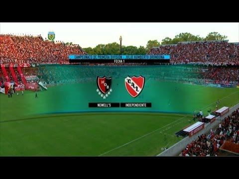 Fútbol en vivo. Newell's - Independiente. Fecha 1. Primera División 2015. FPT