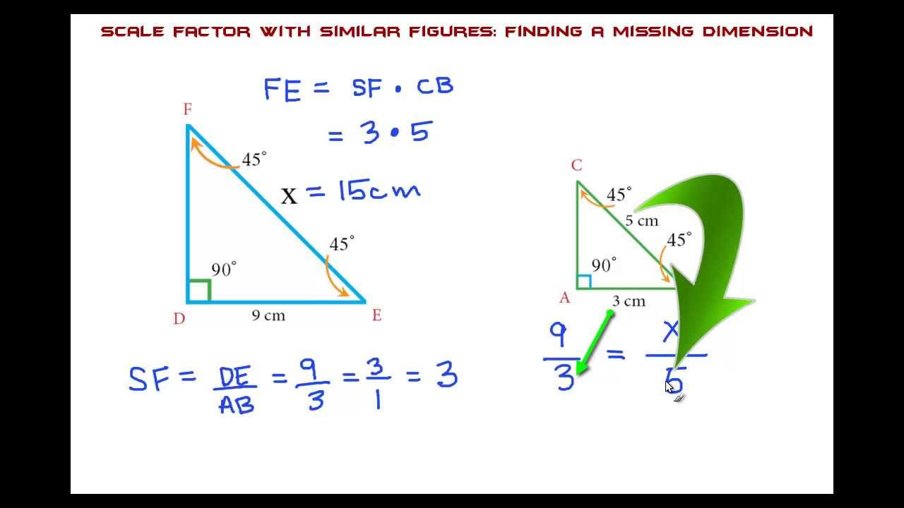 Scale Factor With Similar Figures The Easy Way Youtube