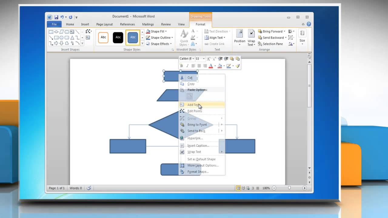 How To Make A Flow Chart In Word 2010