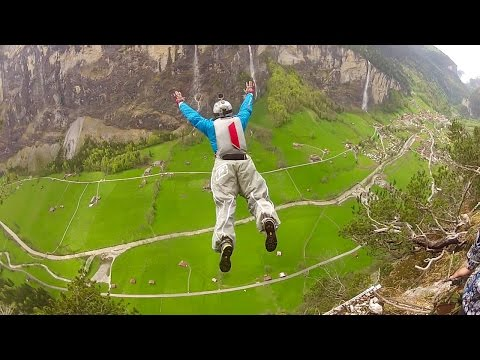 Real BASE Jumping   Extreme Adventures   Monte Brento & Lauterbrunnen