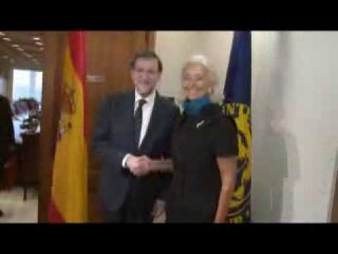 President of Spain meets IMF's Lagarde