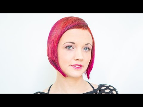 extreme bob haircut makeover short bangs ombre hair red color by anja herrig @ hairundmehr.com