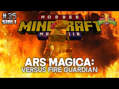 Modded Minecraft Malaysia - E35 - Ars Magica: Versus Fire Guardian