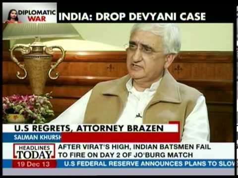 Salman Khurshid talks about past experiences with US