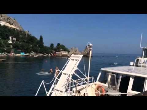 Crimea.Gurzuf.Black Sea.Прозрачная кристально чистая вода