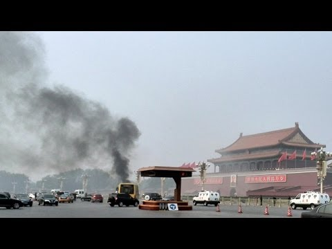 Tiananmen Square car crash: Chinese government deflects questions on alleged suicide attack
