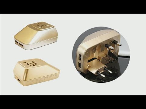 Best travel plug adapter for USA Eu AUS Worldwide 2 USB for Android Iphone