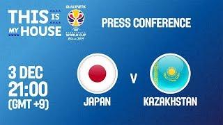 Послематчевая пресс-конференция Япония - Казахстан (Квалификация на Чемпионат Мира 2019)