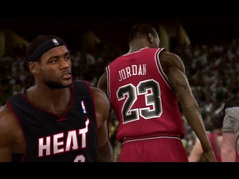 NBA 2K11 First Look: Michael Jordan vs Lebron & The Heat!