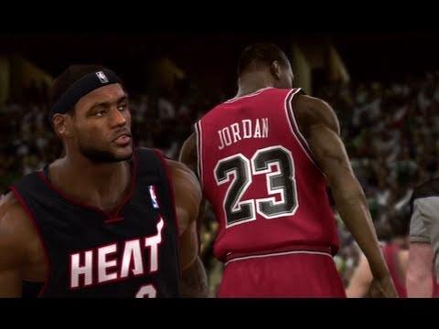 NBA 2K11 First Look: Michael Jordan vs Lebron & The Heat!