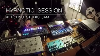 Hypnotic session # Techno studio Jam (Tempest SpaceEcho Prophet6 Perfourmer SubPhatty Strymon..)
