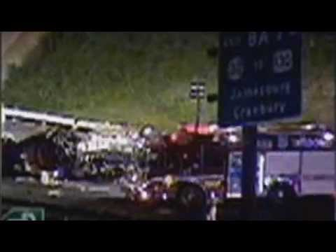 Tracy Morgan Limousine Crash Site Photos & Video - SUV & Truck Accident