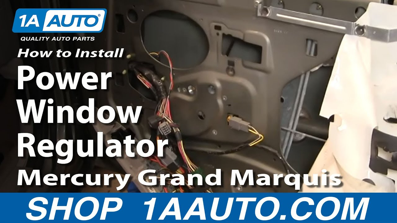 How To Install Replace Rear Power Window Regulator Crown