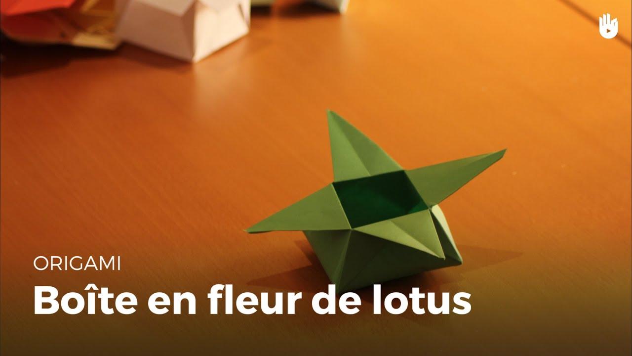 Origami bo te en forme de fleur de lotus hd youtube - Youtube origami fleur ...