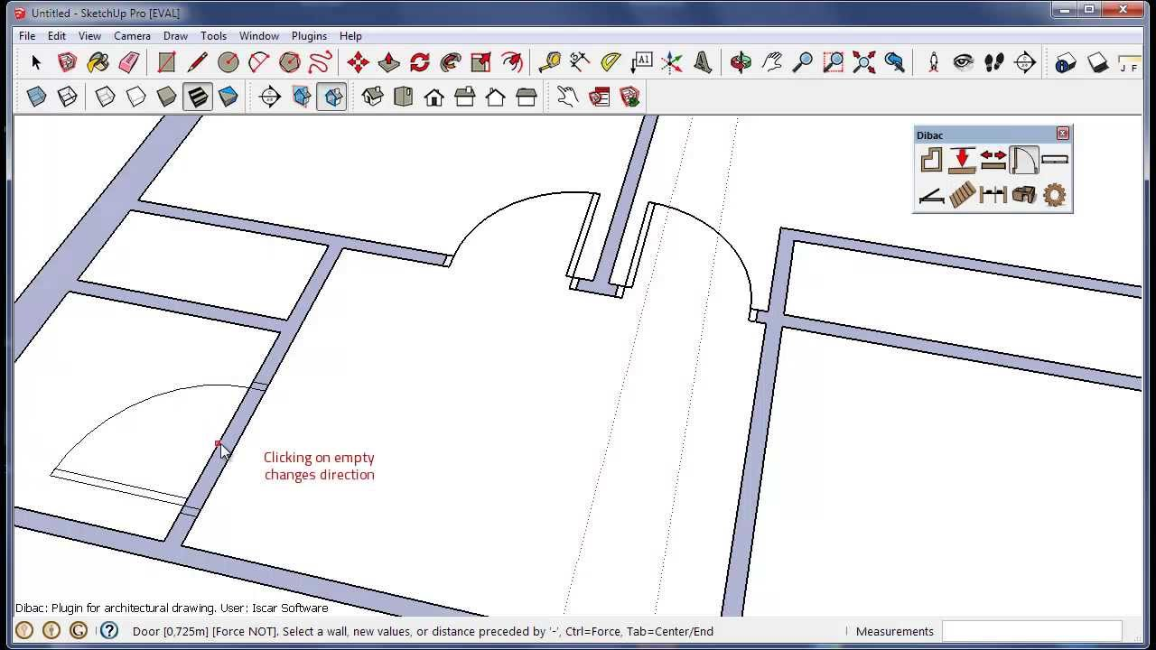 Dibac for sketchup architectural plugin youtube for Architectural design with sketchup
