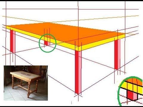 comment dessiner en perspective 5 20 une table en 3d youtube. Black Bedroom Furniture Sets. Home Design Ideas