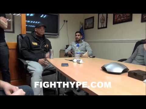 AMIR KHAN DISCUSSES CHOICE OF LUIS COLLAZO: