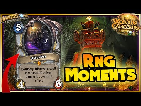 Hearthstone - RNG WTF Moments - Kobolds and Catacombs Funny and lucky Rng Moments
