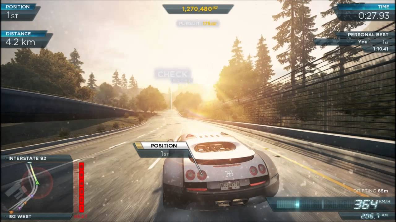 need for speed most wanted 2 bugatti veyron 431 km h 451 km h youtube. Black Bedroom Furniture Sets. Home Design Ideas