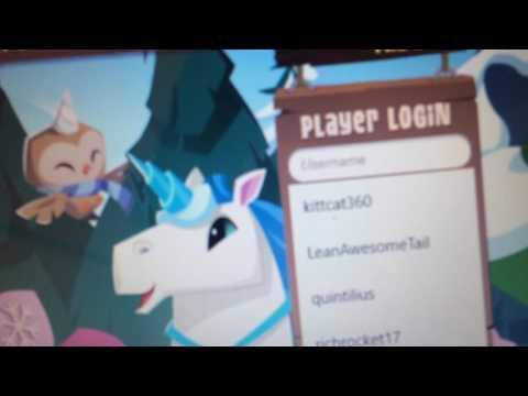 Username and password for animal jam