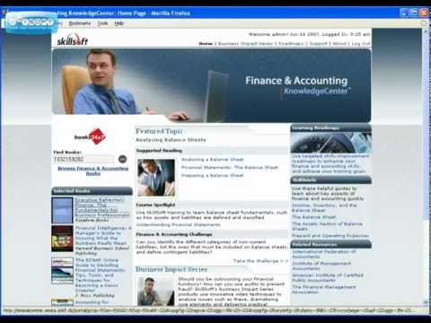 Finance and  Accounting KnowledgeCenter™ Tour.flv