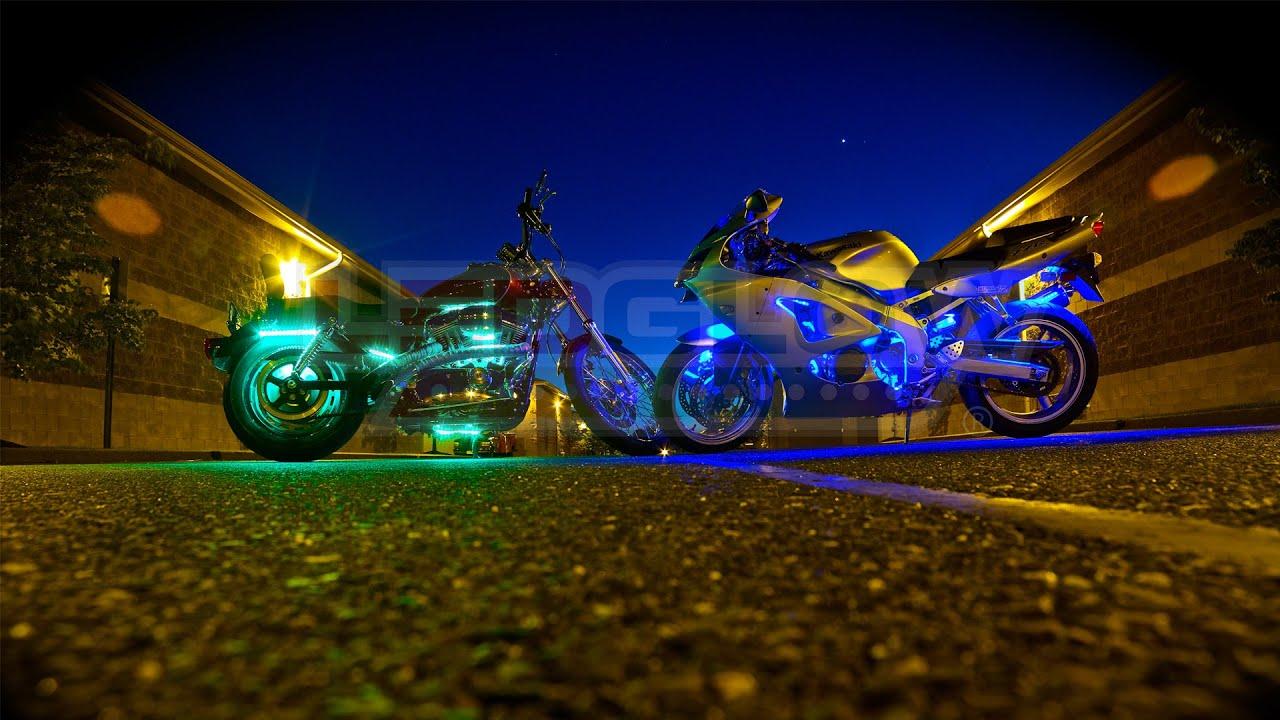 Ledglow S Advanced Million Color Motorcycle Lighting Kit